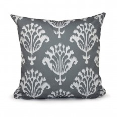 16 in. x 16 in. Floral Motifs Decorative Pillow in Gray-PGN16GY5-16 - The Home Depot