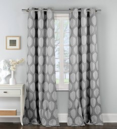 Ropp Geometric Semi-Sheer Grommet Curtain Panel & Reviews | AllModern