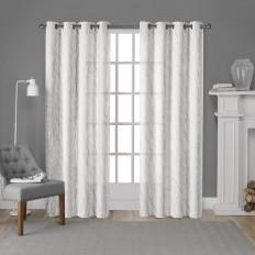 Nichols Printed Metallic Textured Nature/Floral Sheer Grommet Curtain Panels & Reviews | AllModern