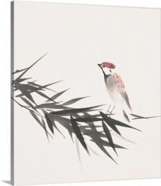 A sparrow and bamboo leaves Wall Art, Canvas Prints, Framed Prints, Wall Peels | Great Big Canvas