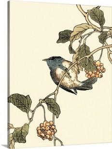 Oriental Bird on Branch III Wall Art, Canvas Prints, Framed Prints, Wall Peels | Great Big Canvas