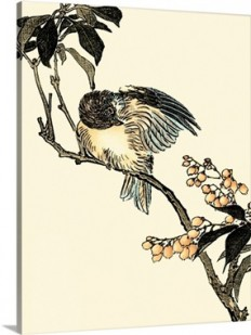 Oriental Bird on Branch V Wall Art, Canvas Prints, Framed Prints, Wall Peels | Great Big Canvas