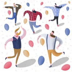 Happy New Year From Happy Hipsters By Lorenza Cotellessa