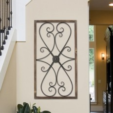 Scrolled Gate Panel Wall Plaque | Kirklands