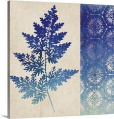 Indigo Leaves III Wall Art, Canvas Prints, Framed Prints, Wall Peels | Great Big Canvas