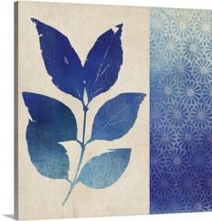 Indigo Leaves I Wall Art, Canvas Prints, Framed Prints, Wall Peels | Great Big Canvas