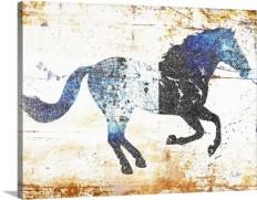 Galloping Blue Horse Wall Art, Canvas Prints, Framed Prints, Wall Peels | Great Big Canvas