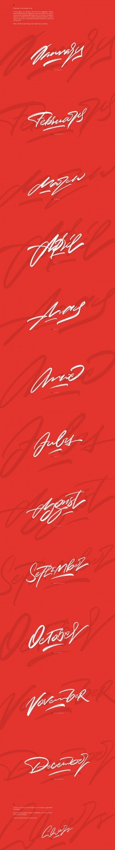 Christmas ?alligraphy Set by Nick Asphodel on Inspirationde