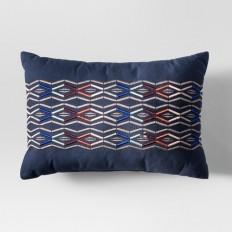 Blue Embroidered Lumbar Pillow - Project 62? : Target
