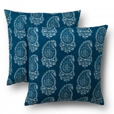 "Blue Paisley Throw Pillow Set 2 Pack (18""X18"") - Threshold? : Target"