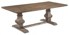 Kinzie Dining Table - Farmhouse - Dining Tables - by BASSETT MIRROR CO.