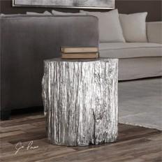 Uttermost Cambium Silver Tree Stump Stool