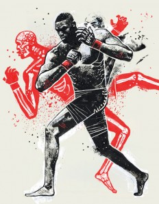 Dynamic Fighting Illustrations by Gian Galang on Inspirationde