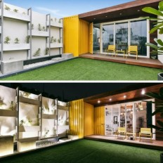 ROOFTOP SHIPPING CONTAINER STUDIO on Inspirationde