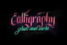 Calligraphy,Grids & more for Procreate on Inspirationde