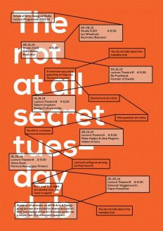 The not at all secret tuesday club, poster submitted and designed by Rick Raby on Inspirationde