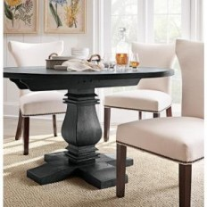 Home Decorators Collection Aldridge Washed Black Dining Table-1673100910 - The Home Depot