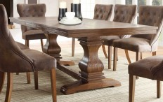 Homelegance Marie Louise Dining Table - Rustic Oak Brown 2526-96 | HomeleganceFurnitureOnline.com
