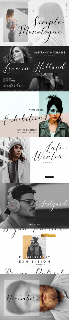 Simple Monologue – Beauty Font on Inspirationde