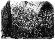 They Fiercely Charged Forward – Old Book Illustrations
