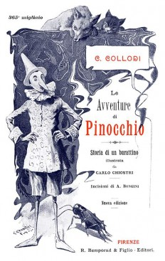 Le avventure di Pinocchio—Title – Old Book Illustrations