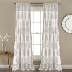 Ophelia & Co. Brocka Nature/Floral Room Darkening Rod Pocket Curtain Panels & Reviews | Wayfair