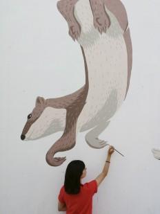 """War dance"" wall by Javier de Riba on Inspirationde"