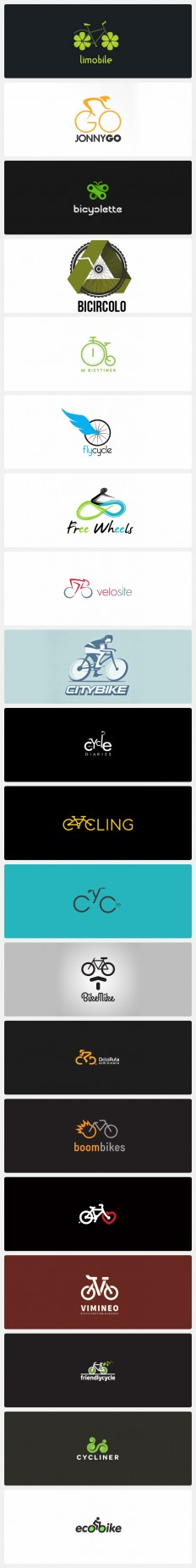 Creative Bicycle Logo Design Ideas on Inspirationde