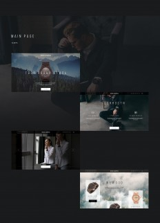 Wood & Watch Landing Page on