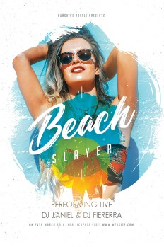 Summer Beach Party Flyer on Inspirationde
