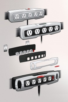 Rubbermaid FastTrack Power Strip on