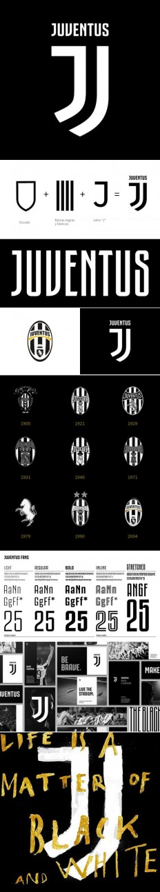 Branding for Juventus Football Club by Interbrand (2017) on Inspirationde