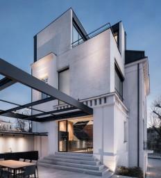 Classic White Concrete House Rebuilt in Stara Zagora, Bulgaria on Inspirationde