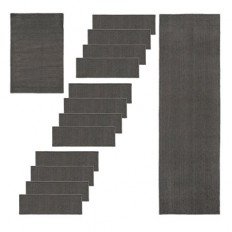 14 Piece Kimberly Solid Slip-Resistant Stair Treads & Rug Set | Improvements Catalog