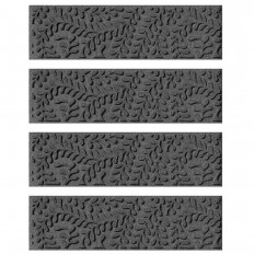Aqua Shield Charcoal 8.5 in. x 30 in. Boxwood Stair Tread (Set of 4)-20561541 - The Home Depot
