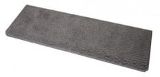 Dean Luxor Gray Bullnose Carpet Stair Treads - Set of 3
