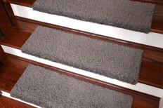 Dean Bullnose Carpet Stair Treads - Set of 3, Gray