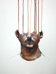 0_o — louros: Autoportrait Lou Ros 8: 35x45cm...