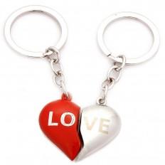 Ghasitaram Love Heart Couple Keychain   Hampers - HomeShop18