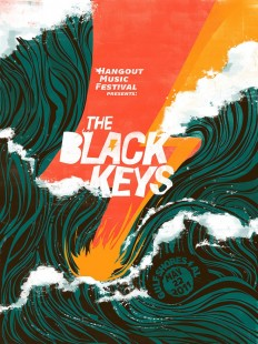 "The Black Keys ""Hangout Music Festival"" Poster on Inspirationde"