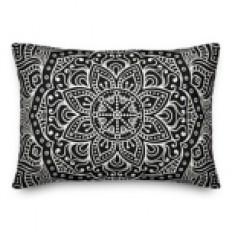 Black Mandala Accent Pillow | Kirklands