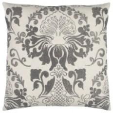 Gray Floral Pillow | Kirklands