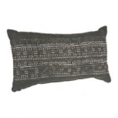 Distressed Black Printed Accent Pillow | Kirklands