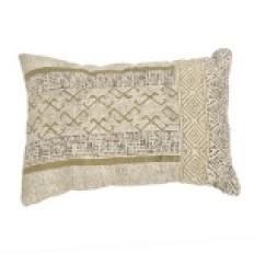 Golden Mixed Media Accent Pillow | Kirklands