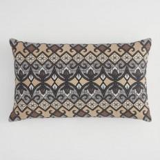 Oversized Cool Bali Tribal Print Lumbar Pillow | World Market
