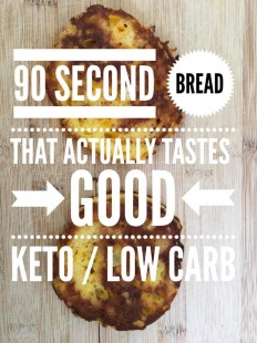 90 Second Bread that Actually Tastes GOOD {Keto / Low Carb} on Inspirationde
