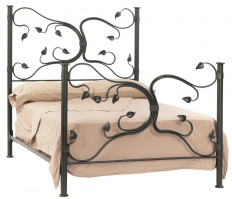 Eden Isle Hand Forged Iron Bed Queen Complete