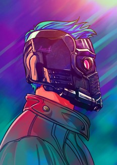 Starlord Illustration by Lucas Mendonça on Inspirationde