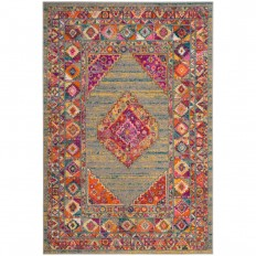 Madison Light Gray/Fuchsia 4 ft. x 6 ft. Area Rug-MAD133G-4 - The Home Depot