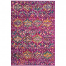 Madison Fuchsia/Blue 5 ft. 1 in. x 7 ft. 6 in. Area Rug-MAD144F-5 - The Home Depot